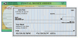 check or money order